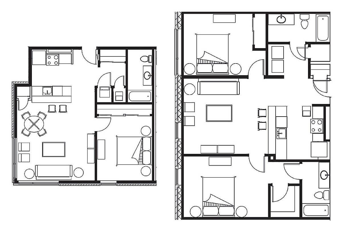 White River Lofts - Redefining Lifestyle Apartments - Muncie, IN Apartment Floor Plan